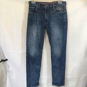 Mens DK Blue Harley Davidson Denim Jeans